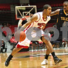 Monica Maschak - mmaschak@shawmedia.com<br /> Northern Illinois' Aaron Armstead dribbles the ball in the first half against Toledo on Wednesday, February 26, 2014. The Huskies won, 74-66.