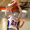 Monica Maschak - mmaschak@shawmedia.com<br /> Hinckley-Big Rock's Caitlin Flanigan gets the ball taken from her as she shoots in the fourth quarter of the Class 1A DeKalb Super-Sectional against Eastland on Monday, February 24, 2014. The Royals lost, 33-36.