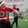 Monica Maschak - mmaschak@shawmedia.com<br /> Shelby Miller catches with a teammate during softball practice at the Chessick Center on Tuesday, February 25, 2014.