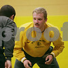 Rob Winner – rwinner@shawmedia.com<br /> <br /> Seniors Tyler Barton (right) and Austin Armstrong wrestle during practice at Sycamore High School on Thursday, Jan. 2, 2014.