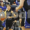 Rob Winner – rwinner@shawmedia.com<br /> <br /> Hinckley-Big Rock's Eric Phillips controls the ball in the first half during a tournament game against Indian Creek at the Plano Christmas Classic on Monday, December 30, 2013. IC defeated H-BR, 61-37.