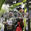 Rob Winner – rwinner@shawmedia.com<br /> <br /> Max Burrows (left) and Ray Heinberg, both of Marengo, look over the Y Drop display at the annual Northern Illinois Farm Show at the Convocation Center in DeKalb, Ill., Wednesday, Jan. 8, 2014. The Y Drop is an attachment for liquid fertilizers that is used for more effective plant coverage.