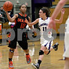Monica Maschak - mmaschak@shawmedia.com<br /> DeKalb's Brittney Patrick throws a pass in the third quarter at Rochelle on Friday, January 10, 2014. DeKalb won, 54-38.