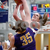 Monica Maschak - mmaschak@shawmedia.com<br /> Hinckley-Big Rock's Anne Klein gets blocked on a shot in the first quarter against Serena on Thursday, January 9, 2014. The Royals lost to the Huskers, 52-41.