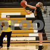 Monica Maschak - mmaschak@shawmedia.com<br /> Hunter Morgan, 11, competes in a free throw contest at Sycamore High School on Saturday, January 4, 2014. Morgan finished third in her age group.