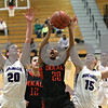Monica Maschak - mmaschak@shawmedia.com<br /> DeKalb's Alyssa Burgess takes it to the hoop in the first quarter at Rochelle on Friday, January 10, 2014. DeKalb won, 54-38.