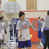 Rob Winner – rwinner@shawmedia.com<br /> <br /> Eighth-grader Payton Garcia plays badminton while participating in the CATCH program at Genoa-Kingston Middle School on Thursday, Jan. 16, 2014.  CATCH stands for a Coordinated Approach To Child Health and is a coordinated school health program designed to promote physical activity, healthy food choices and the prevention of tobacco use in children.