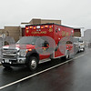 Rob Winner – rwinner@shawmedia.com<br /> <br /> Emergency personnel from fire departments including Cortland, DeKalb, Sycamore, Maple Park-Countryside, Elburn, Burlington, Hinckley and Genoa-Kingston are seen outside Cortland Elementary School in Cortland, Ill., on Tuesday, Jan. 14, 2014. Gas released from the nearby landfill got caught in the school's ventilation system making staff and students nauseous.
