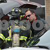 Rob Winner – rwinner@shawmedia.com<br /> <br /> Cortland firefighters are seen outside Cortland Elementary School in Cortland, Ill., on Tuesday, Jan. 14, 2014. Gas released from the nearby landfill got caught in the school's ventilation system making staff and students nauseous. Emergency personnel from fire departments including Cortland, DeKalb, Sycamore, Maple Park-Countryside, Elburn, Burlington, Hinckley and Genoa-Kingston were seen at the school.