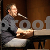 Monica Maschak - mmaschak@shawmedia.com<br /> Nicolas Boulerice, with French-Canadian folk group Le Vent du Nord, sings and plays the piano at DeKalb High School on Tuesday, January 14, 2014. A public concert will be held at the high school this Saturday at 7 p.m.