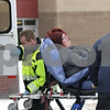 Rob Winner – rwinner@shawmedia.com<br /> <br /> An adult is seen on a stretcher being placed into a Sycamore Fire Department ambulance outside Cortland Elementary School on Tuesday afternoon.