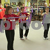 Members of the First United Methodist Church's Faithfully Fit group exercise on Tuesday morning.