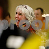 Monica Maschak - mmaschak@shawmedia.com<br /> Hall of Fame inductee Carme Gregory laughs as she listens to Diane Hammon introduce her to the crowd during the annual DeKalb Chamber of Commerce dinner held at Faranda's Banquet & Conference Center on Thursday, January 23, 2014.