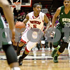 Monica Maschak - mmaschak@shawmedia.com<br /> Northern Illinois' Travon Baker dribbles down court in the first half against Ohio University on Saturday, January 18, 2014. The Huskies lost, 65-46.