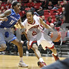 Monica Maschak - mmaschak@shawmedia.com<br /> Northern Illinois' Aaric Armstead looks for an opportunity in the first half against University at Buffalo at the Convocation Center on Saturday, January 25, 2014. The Huskies lost to the Bulls, 75-67.