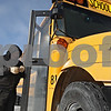 Rob Winner – rwinner@shawmedia.com<br /> <br /> Clair Lutz, an assistant mechanic for Sycamore School District #427 transportation department, prepares to drive a bus for a scheduled test on Monday, Jan. 27, 2014.