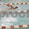 Monica Maschak - mmaschak@shawmedia.com<br /> Jacob Bjork breathes in the 100 yard freestyle event against Elgin on Thursday, January 30, 2014. DeKalb won the meet, 136-31.