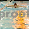Monica Maschak - mmaschak@shawmedia.com<br /> Daniel Hein leads in the 100 yard butterfly event against Elgin on Thursday, January 30, 2014. DeKalb won the meet, 136-31.