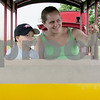 Andrea Azzo - aazzo@shawmedia.com<br /> Amboy resident Kirstyn Carter and 5-year-old son Landon ride the Waterman and Western Railroad train Sunday at Waterman's Lions Community Park, 435 S. Birch St.