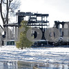 Monica Maschak - mmaschak@shawmedia.com<br /> The skeletal structure of a house at 485 Hyde Road in Earlville is all that remains after a fire that killed two and injured one in the early morning hours Sunday morning. As of Monday morning, the cause of the fire was still unknown.