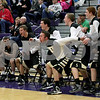Monica Maschak - mmaschak@shawmedia.com<br /> Sycamore cheers on their players in the second quarter of the class 3A sectional semifinal game against Sycamore at Hampshire High School on Wednesday, March 12, 2014. Sycamore won, 58-49.