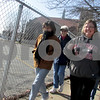 Katie Dahlstrom - kdahlstrom@shawmedia.com<br /> Deb Askelson, from left, and Cathy Foelske, the parish nurse for the First Lutheran Church in DeKalb start their 40-minute walk outside the church. Every Friday leading up to Good Friday, Foelske will lead a Lenten Prayer Walk at 10 a.m.