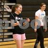 Monica Maschak - mmaschak@shawmedia.com<br /> DeKalb senior Tristan Draper laughs during badminton practice at DeKalb High School on Friday, March 21, 2014.