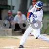Monica Maschak - mmaschak@shawmedia.com<br /> Hinckley-Big Rock's Jacob Diveley makes contact with the ball in the second inning of the class 1A regional quarterfinal game against Elgin Academy on Monday, May 19, 2014. The Royals won, 17-7 in six innings.