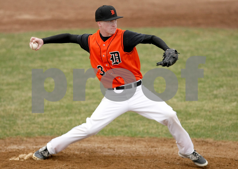 Danielle Guerra - dguerra@shawmedia.com<br /> DeKalb pitcher Austin Hop has been a big part of the Barbs' pitching staff this season, with help from his knuckleball (seen here).