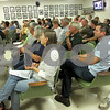 Katie Dahlstrom - kdahstrom@shawmedia.com<br /> DeKalb property owners packed DeKalb City Council chambers Monday to oppose an ordinance that would change the way the city inspects commercial and industrial properties. Aldermen ultimately decided to postpone action on the ordinance until November.