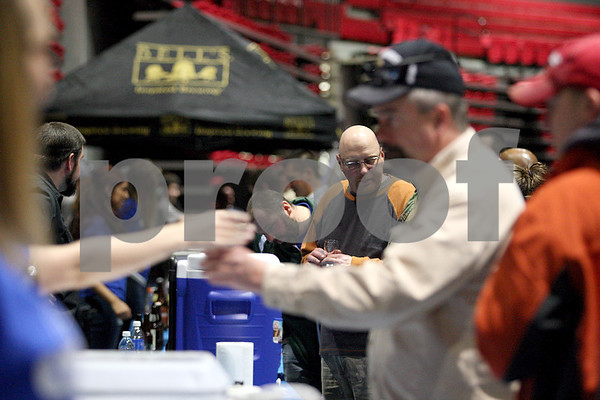 Monica Synett - msynett@shawmedia.com<br /> In the America on Tap Beer Festival's first year in DeKalb, the event sold out to 1600 people at the Convocation Center. Seventy four national and local breweries were represented at the event.