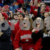 Laura McDermott for Shaw Media   <br /> Fans of Northern Illinois University cheer for their ten during the 2015 MAC Championship Game at Ford Field in Detroit, Mich. on Dec. 4, 2015. Bowling Green University beat Northern Illinois University 34-14.