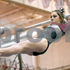 Monica Synett - msynett@shawmedia.com<br /> Prairie Ridge Coop's Nikki Baars competes on the uneven parallel bars event during the Girls State Gymnastics Championship at Palatine High School on Saturday, February 21, 2015. Baars received eighth place with a score of 9.475.
