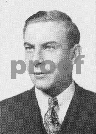 Roland Wylde, senior class photo from Sycamore High School 1945