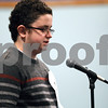 Monica Synett - msynett@shawmedia.com<br /> Nolan Bunger, 12, of Huntley Middle School in DeKalb, spells a word in the seventh round of the annual DeKalb County Spelling Bee at Kishwaukee College in Malta on Saturday, March 7, 2015. Bunger is this year's spelling bee champion and will compete in Washington D.C..