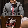 Sam Buckner for Shaw Media<br /> NIU athletic Director Sean Frazier talks about the history of the memorial and its restoration. Frazier played a big role in organizing the restoration. Friday October 9, 2015.