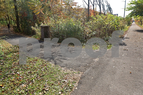 Monica Synett - msynett@shawmedia.com<br /> The bike path behind the Michael's store on Wednesday, October 21, 2015. In the past two months, police have received three reports of a man exposing himself near the 2100 block of Sycamore Road, on the bike path and wooded area behind Michael's.
