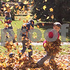 Sam Buckner for Shaw Media<br /> Silas and Joe Newell play in the leaves before the Pumpkin Parade on Sunday October 25, 2015.