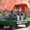 Sam Buckner for Shaw Media<br /> Pumpkin Parade Junior Marshalls wave at bystanders from their float.