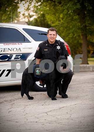 Provided Photo<br /> Genoa Police Department's Chief Robert Smith with his K-9 partner, Kane.