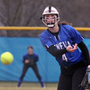 Geneva's Ali Dierks pitches during a game against visiting York on March 28.