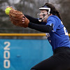 Geneva's Emilyh Viebrock pitches in relief during a game against visiting York on March 28.