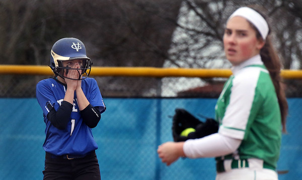 Geneva's Sam Keller had an RBI double in the first inning of a game against visiting York on March 28. Keller's hit gave the Vikings a 3-2 lead.