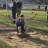 St. Charles North's Frank McGinn competes in the long jump during the boys track and field invite at St. Charles North High School April 7.