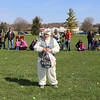 The Easter Bunny welcomes the children to the Elburn Lions Club Easter Egg Hunt on April 8.