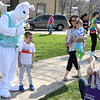The Easter Bunny has photos taken with children during an Egg Hop at the Peg Bond Center in Batavia April 15.
