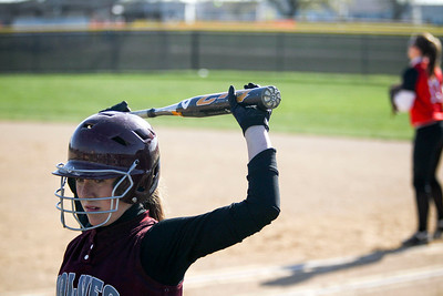 Jenny Kane - jkane@shawmedia.com Wed. April 11, 2012, A Prairie Ridge player warms up to bat against Huntley during the first inning of their FVC Valley Division matchup.