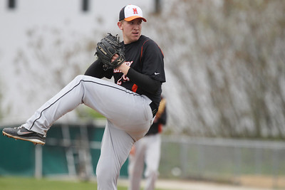 Mike Greene - mgreene@shawmedia.com McHenry's Kevin Maher pitches during a game against Crystal Lake Central Friday, April 13, 2012 in Crystal Lake. McHenry won the game 5-3.