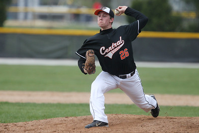 Mike Greene - mgreene@shawmedia.com Crystal Lake Central's Jacob Roley pitches during a game against McHenry Friday, April 13, 2012 in Crystal Lake. McHenry won the game 5-3.