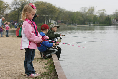Mike Greene - mgreene@shawmedia.com Juliana Borchert, 5, waits for a bite during the annual Veteran Acres Family Fishing Derby Saturday, April 14, 2012 in Crystal Lake. The event, which featured free fishing lessons and hands-on fishing demos, was put on by the Crystal Lake Park District and the Crystal Lake Anglers.